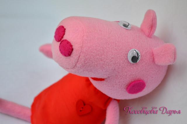 peppa pig, свинка пеппа, игрушка свинка пеппа, свинка ппепа из флиса, купить свинку пеппу, купить в киеве свинку пеппу, Игрушка из мультика свинка пеппа, peppa pig toy