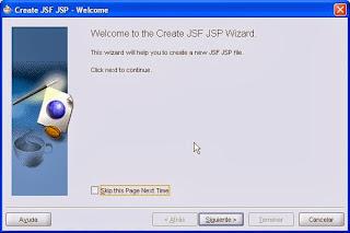 asistente creacion pagina jsf