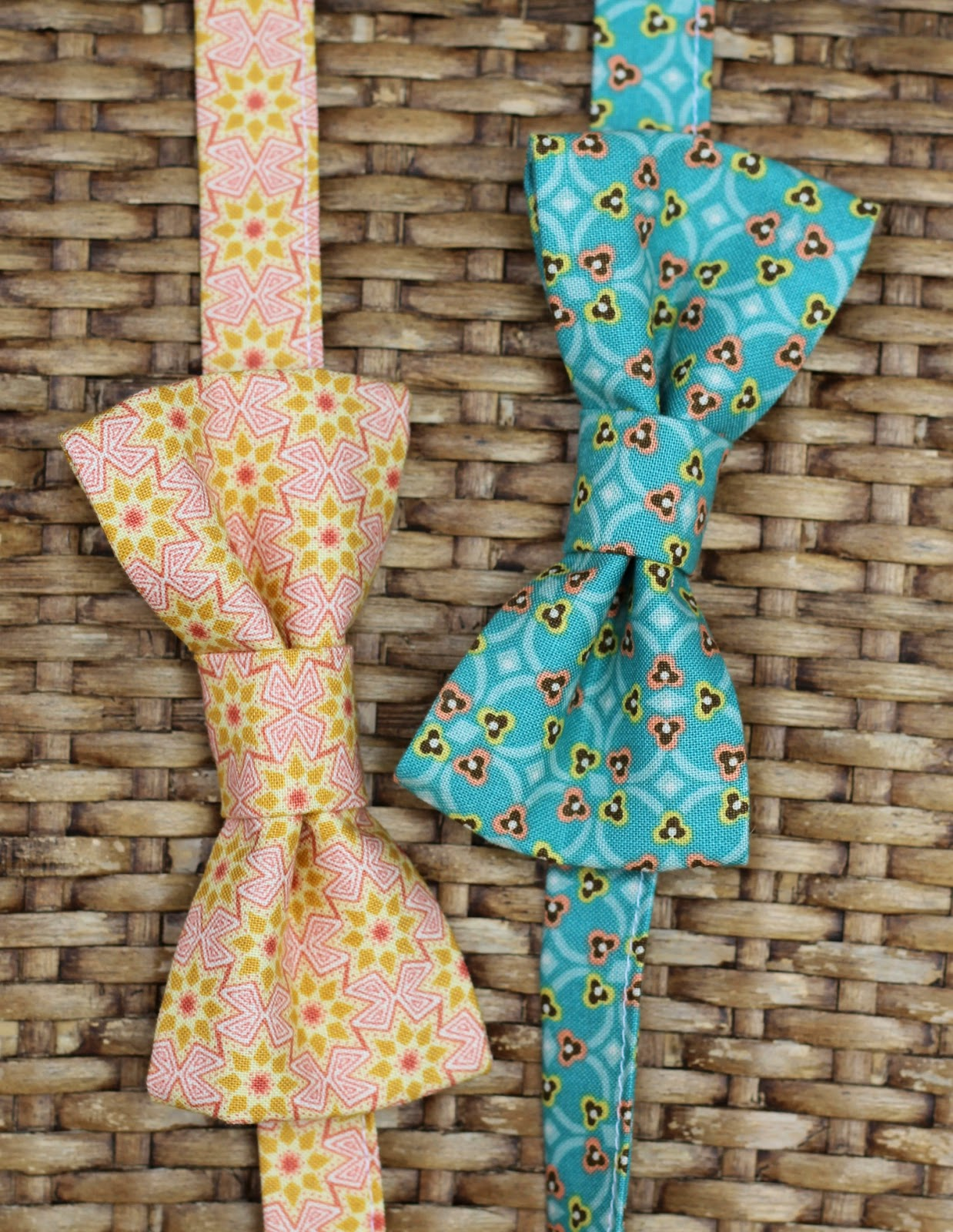 Because I'm Me pink and blue green cotton bow ties for infants, toddlers, child, and men
