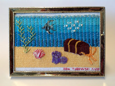 """Sparkles under the Sea,"" designed and stitched by Erin Turowski"