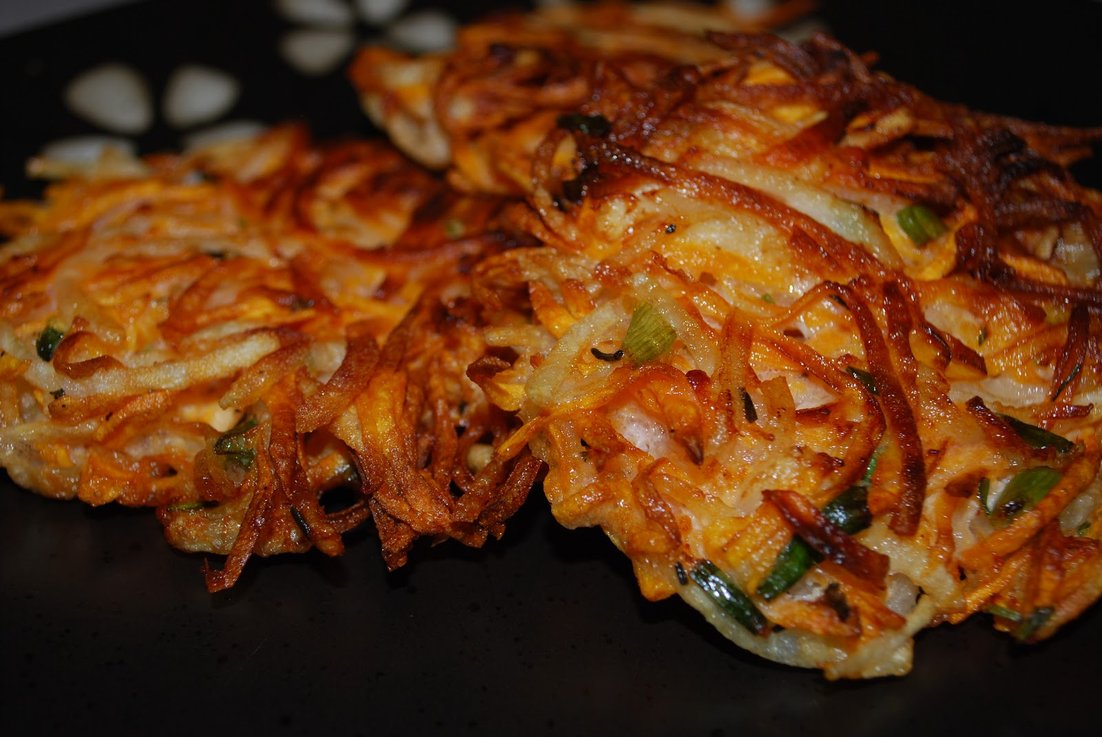 Sweet Potato Pancakes (latkes) - Carrie's Experimental Kitchen