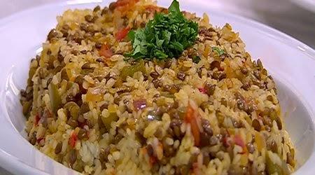 أرز بالعدس البني