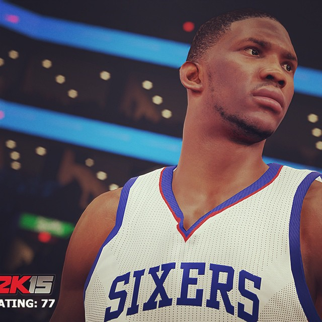 Joel Embiid NBA 2K15 Screenshot
