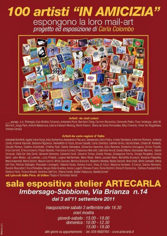 Evento concluso : mail art in amicizia