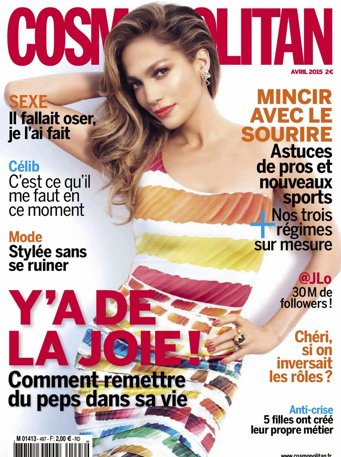 Singer, Actress @ Jennifer Lopez - Cosmopolitan France, April 2015