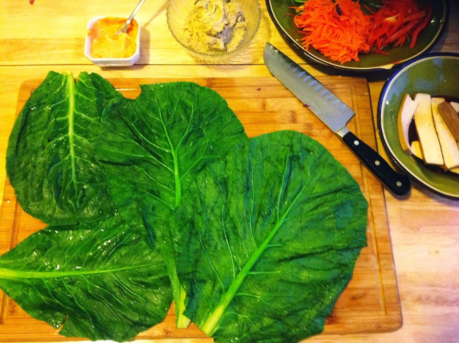 it's a wrap!.....asian inspired vegan collard wraps