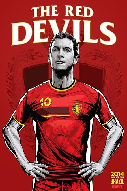 Poster keren world cup 2014 - Belgia