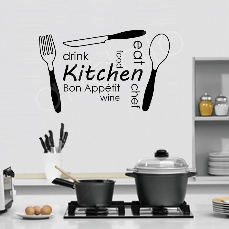 Ho scoperto gli adesivi murali amemipiacecosi fashion for Stencil parete cucina