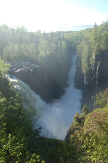 Great lakes waterfall adventures aguasabon falls and for Terrace bay ontario