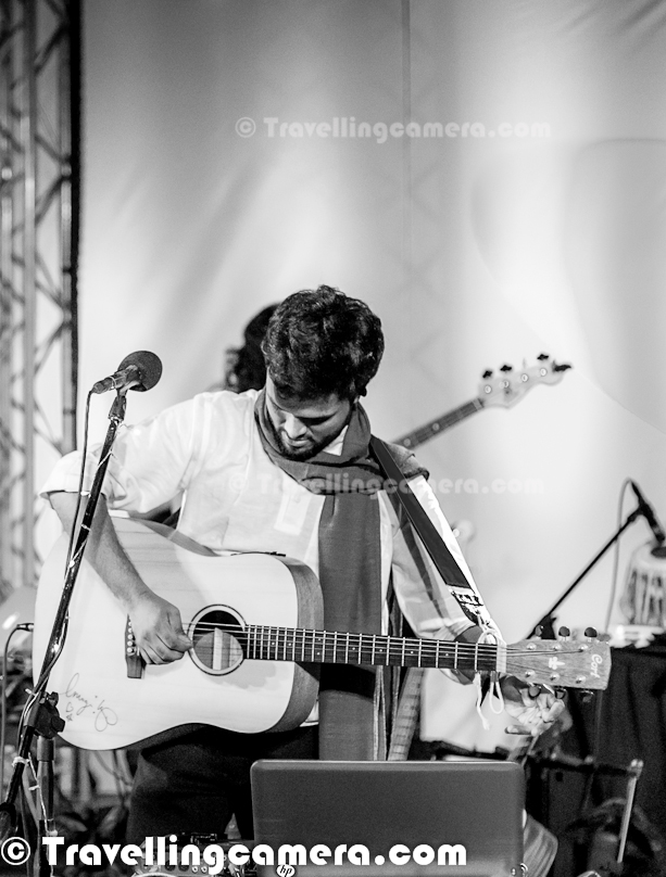 On 23rd September' 2012, ADVAITA was celebrating it's 8th Birthday ay India Habitat Centre in Lodhi Estate, Delhi. Since I was also in town, so thought of visiting the place to enjoy music with ADVAITA & some of the artists from MRIGYA & PARIKRAMA. This Photo Journey shares some of the musical moments of ADVIATA Performances at IHC, Delhi...Chayan Adhikari & Suhail Yusuf Khan talking to each other during the performance..Aman Singh Rathore on Drums !This musical event had to start at 6pm in open Amphitheater of IHC, but as per Delhi trends it started after 7pm. Since weather was good, it was fine with music lovers sitting there. Whole space was full and people were finding space on surrounding walls. For finding a place to sit, many of the IHC plants were destroyed. It was really sad to see people acting so cruelly with plants around AmphitheaterSuhail Yusuf Khan was playing Sarangi during most of the performances and sang some classical numbers in between. He was awesome at both the things.Then whole team of ADVAITA came on stage and thanked everyone to come & wait for them. It started with good mood and nice songs. ADVAITA is an eclectic music group from New Delhi, India. ADVAITA team borrowed their name from an ancient Indian philosophy, which translates to mean Non-Duality. Ujwal Nagar, The Classical Vocalist of ADVAITA was star of the evening for me. He was awesome and best at his role in the crew. Loved the way he sings and especially his performance in Ghir-Ghir... He looked like a shy personality, some of us were talking about the same :Surojeet Dev on Drums, while Prithveesh Dev was singing on the stage !Some guest performers were also invited during the evening. Nikhil Mawkin Nikhil Mawkin is a well known name in the music circuit in Delhi. He has made his mark in the music circuit with bands like Mawkin Revival and Cuenta Cuentos. Mawkin has a flair for bringing together different genres of music and blending them to create a sound that is unique. Last ev