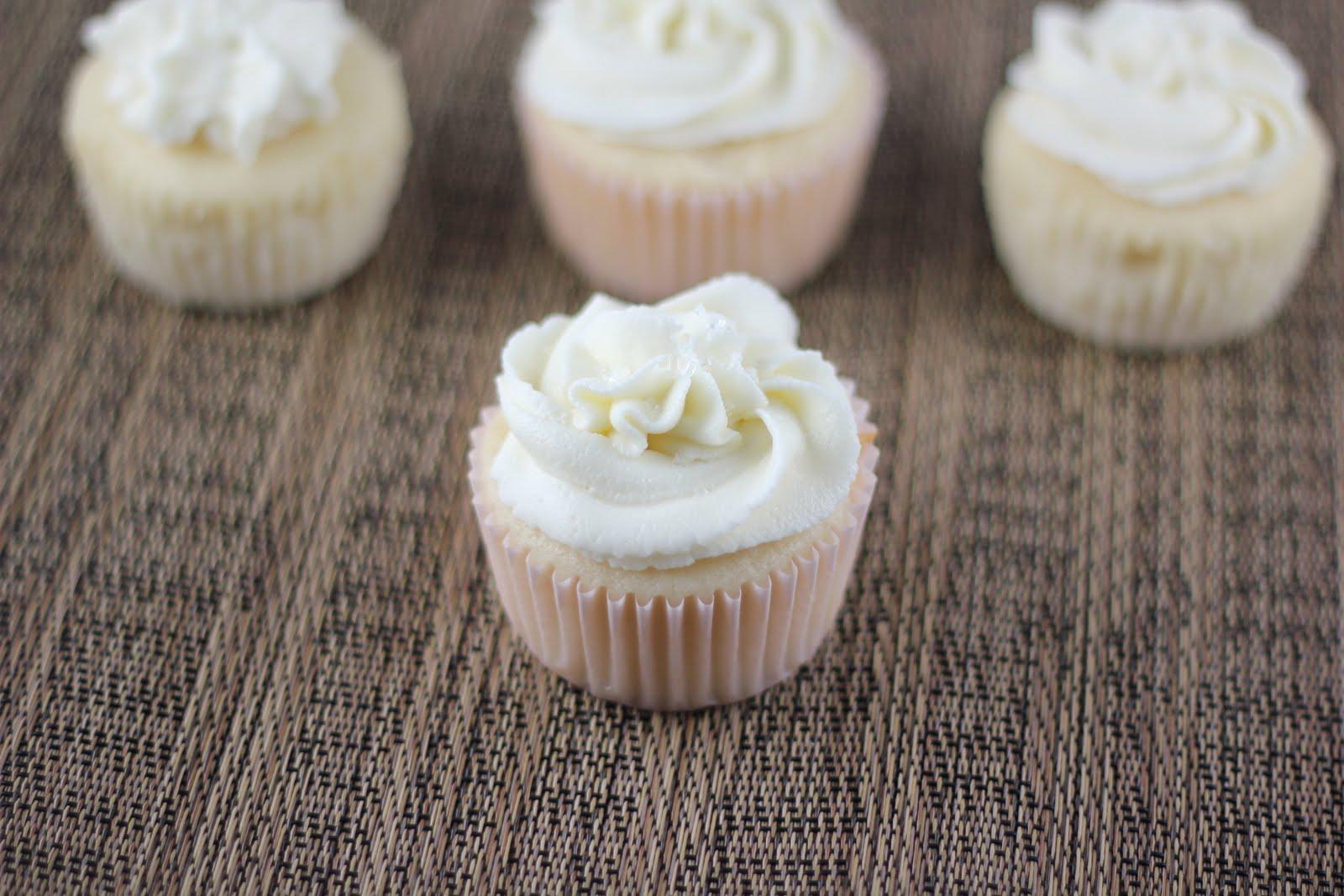 White Wedding Cake Cupcakes - A Zesty Bite