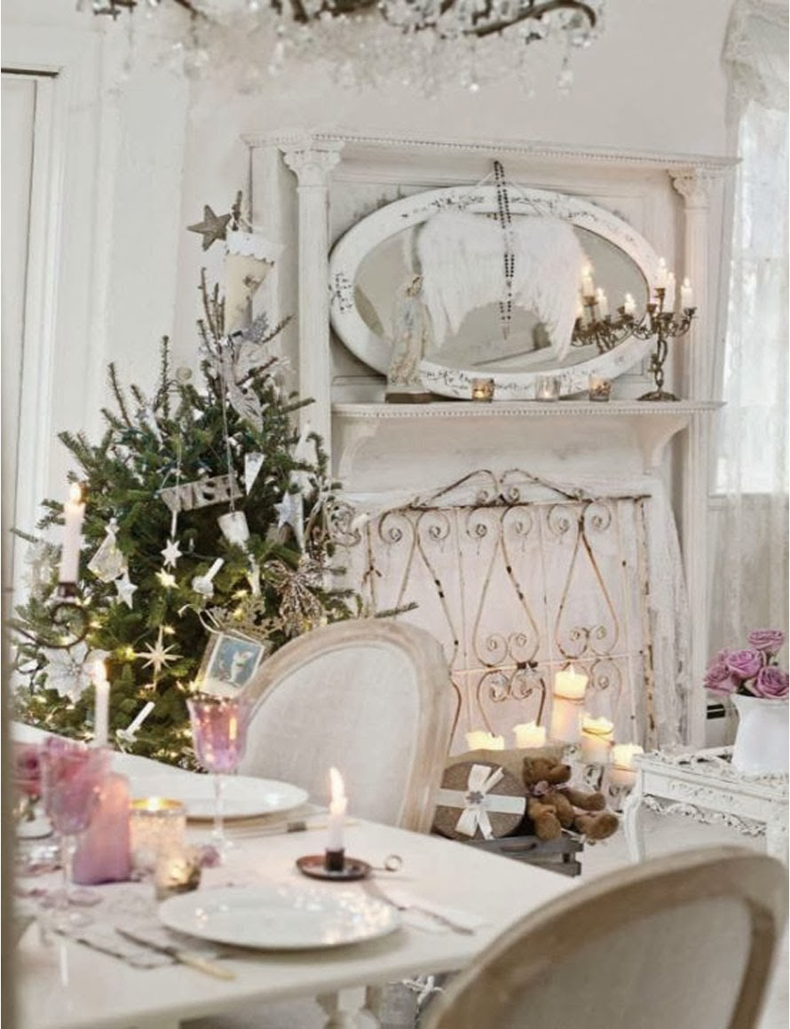 A touch of southern grace christmas tablescape inspiration for Shabby chic christmas