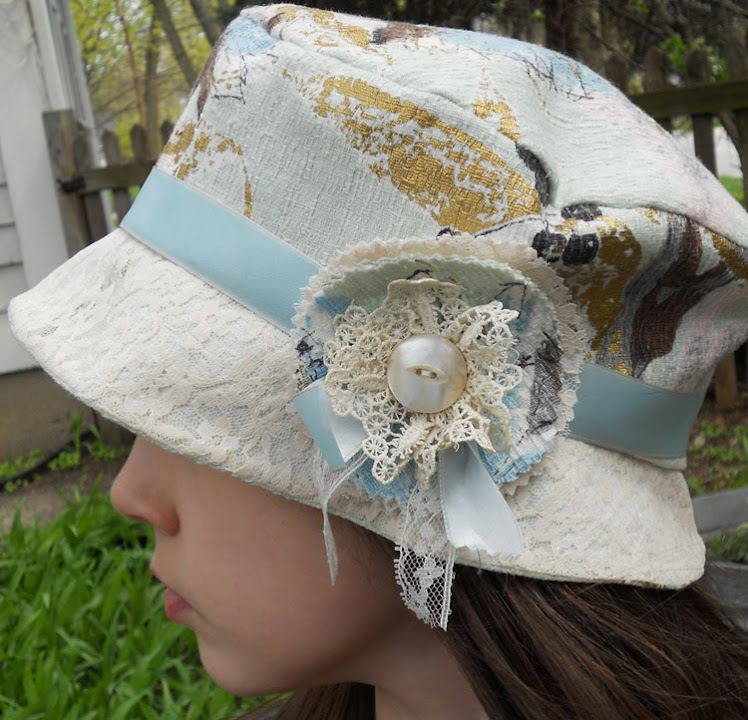 Pretty flower hat