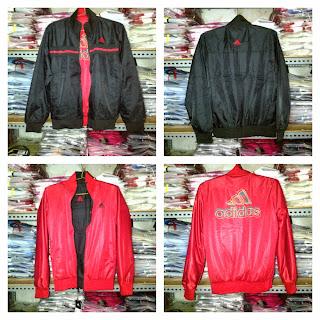 Jaket Adidas Cewek Bolak Balik Hitam Merah