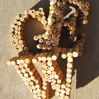 wine cork project letters