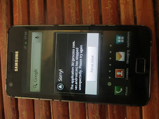 Broken Samsung Galaxy SII
