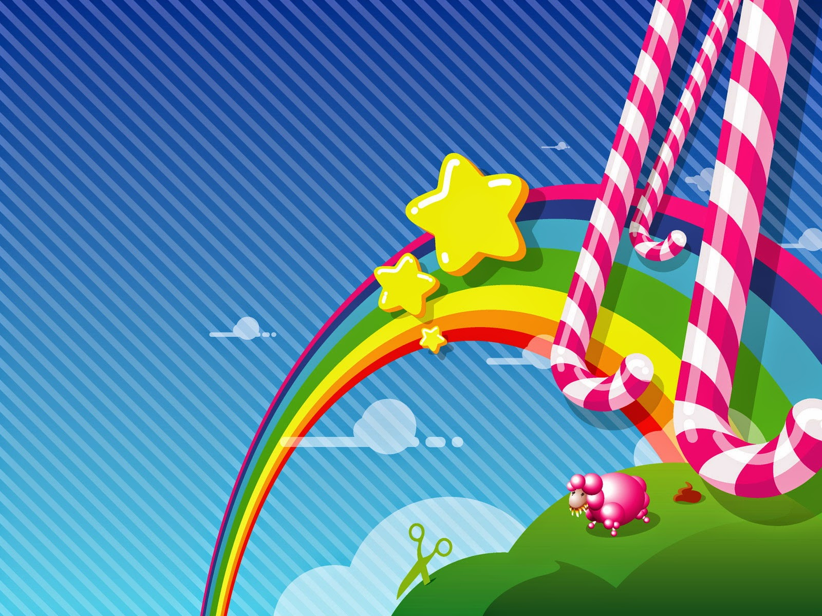 Abstract Candy hd wallpaper