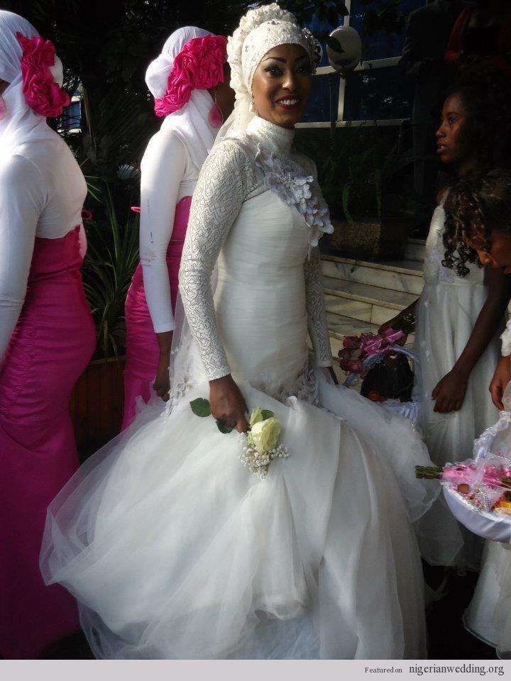 African Pearl Bridal Muslim Bride
