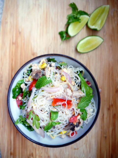 Yum Woon Sen - Spicy Thai Glass Noodles Salad 3 | Thailand Recipes