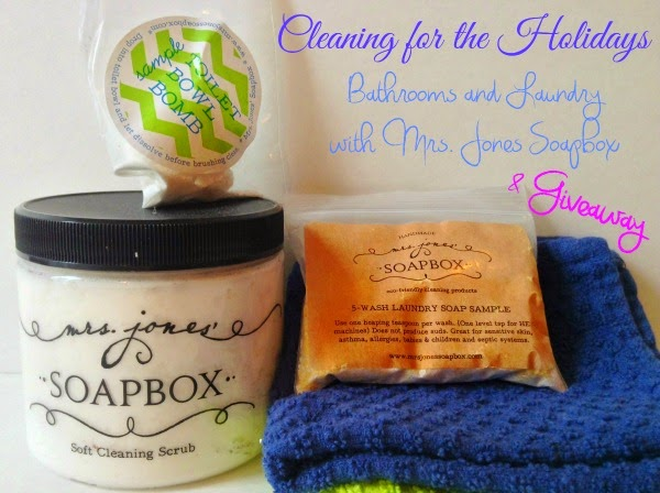 Cleaning for the Holidays with all natural Mrs.Jones Soapbox & Giveaway