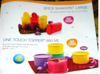 Tupperware August flyer