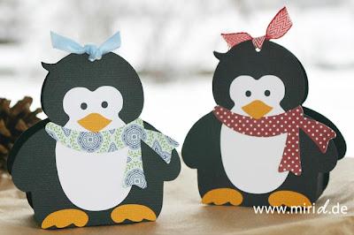 Caja con forma de pingüino