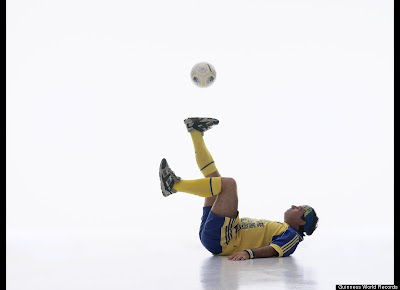 Longest Time Controlling A Football While Lying Down