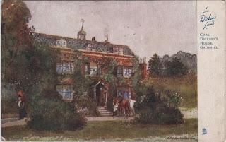 Vintage postcard of Charles Dickens' House