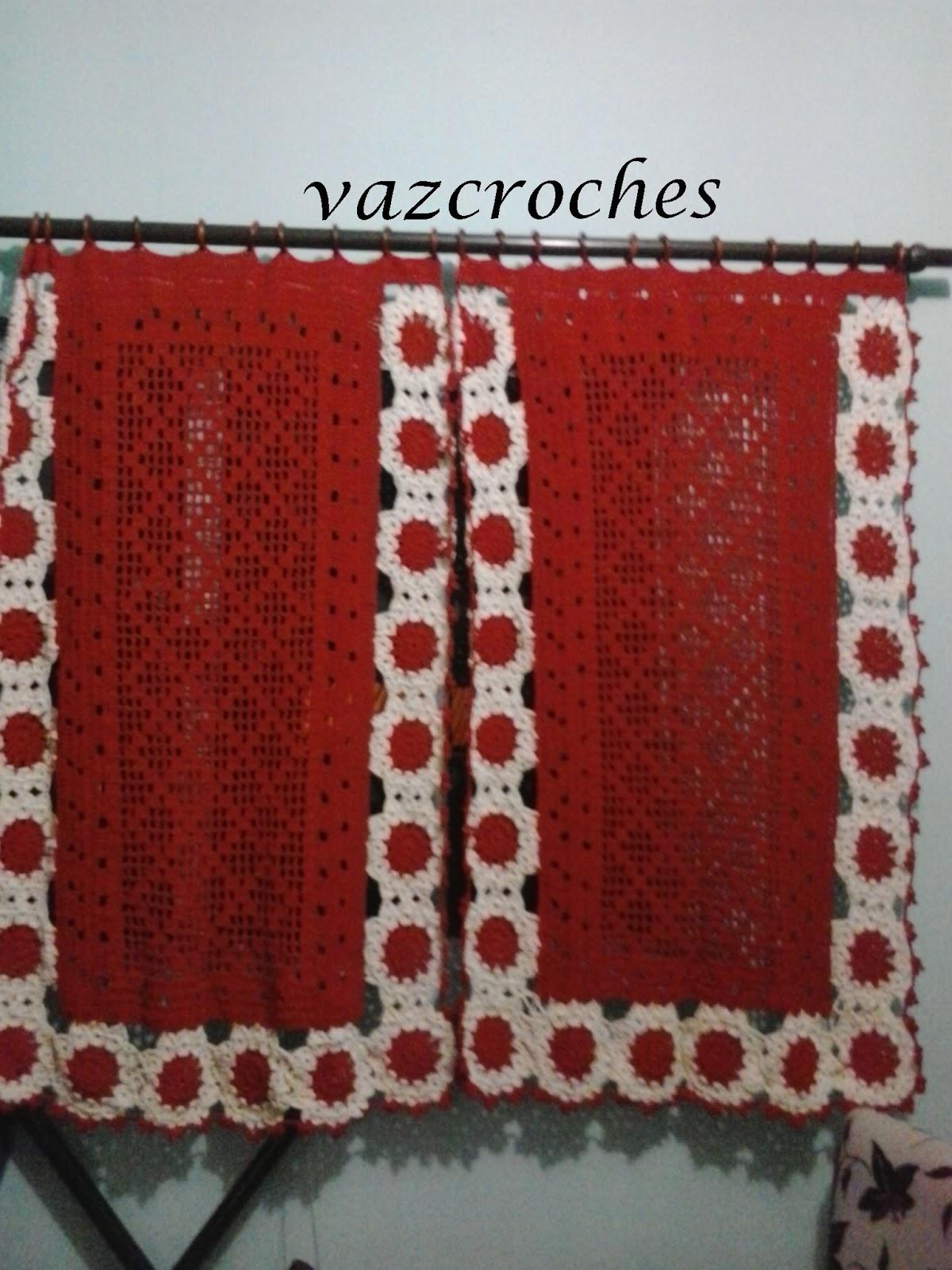 Cortina Para Cozinha De Croche Faxina Croch Jack Aula Pia Limpa