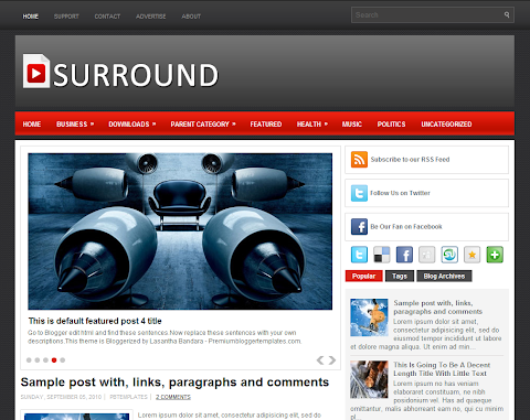 Surround Blogger Theme