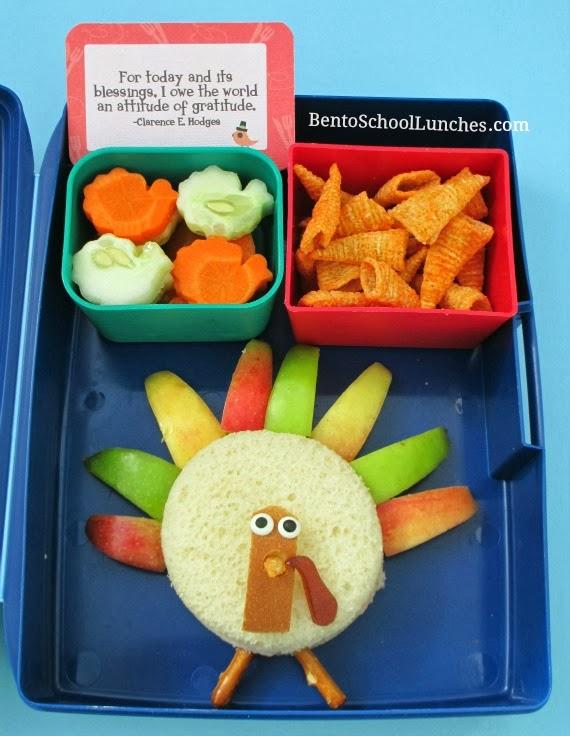 Thanksgiving turkey, bento school lunches