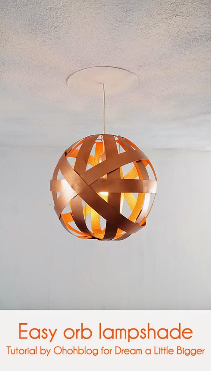 DIY easy orb lampshade