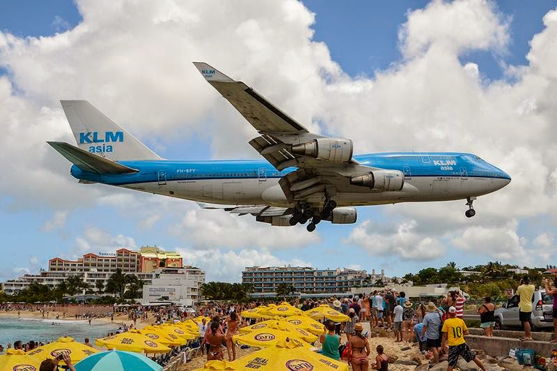 "Maho Beach Resort many was referred to as ""the world's best place to watch the planes."""
