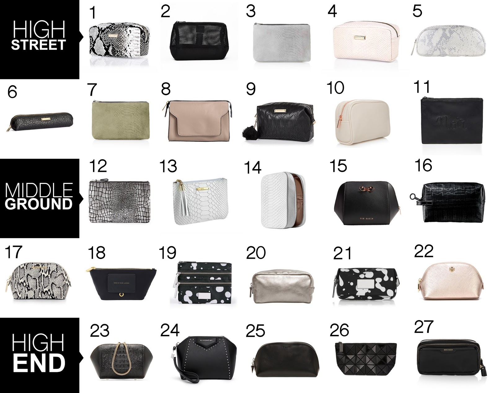 MUST HAVE MAKEUP BAGS