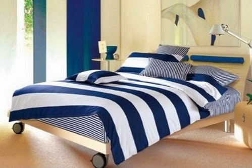 Popular Navy White Cotton Twin XL Comforter Set College Ave