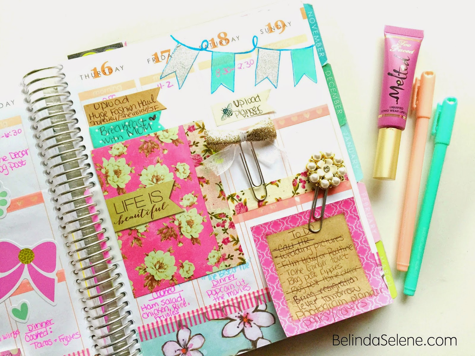 ... : How I Decorate and Organize My Erin Condren Life Planner