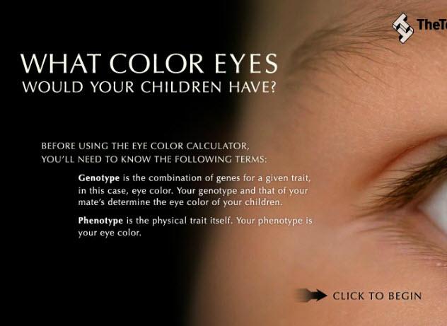 Adivinar el color de los ojos de tu bebe