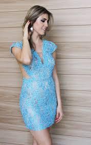 vestido de festa de renda azul - dicas e fotos