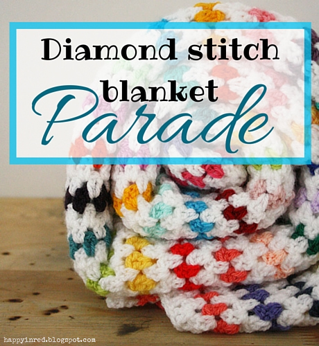 Diamond stitch blanket, blanket parade | Happy in Red