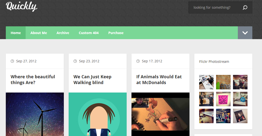 Download Gratis : Template Blogger Quickly