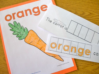 Color word emergent reader and poster set
