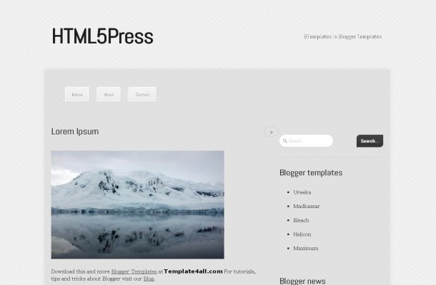Free Chrome White Magazine News Blogger Jquery Template