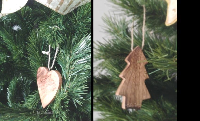Detalles decorativos navideños en madera by Habitan2
