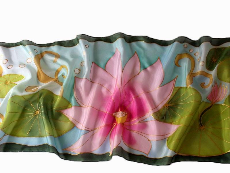 Ajándék nőknek: lótuszvirág selyem sál az elegáns ajándék
