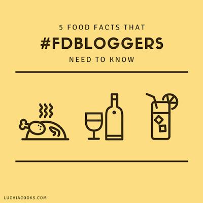 5 food facts that #fdbloggers need to know luchiacooks.com