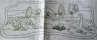 patos e paisagem