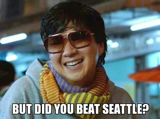 but did you beat seattle?