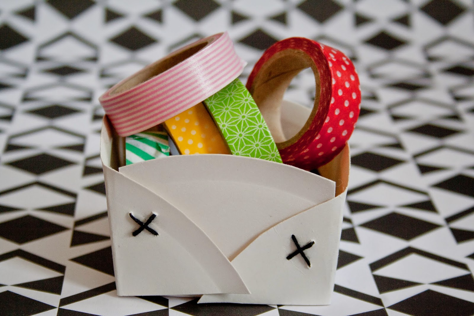 DIY Easy Paper Plate Baskets & Curious and Catcat: DIY: Easy Paper Plate Baskets