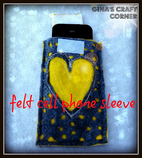 FELT CELL PHONE SLEEVE
