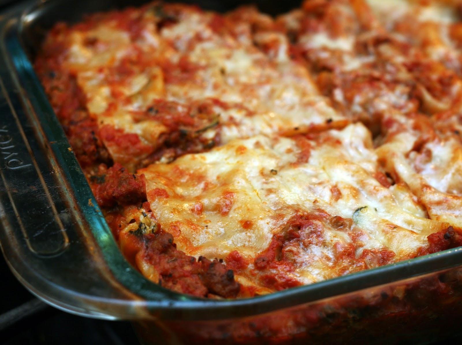 ... by Rachel Rappaport: Porcini Spinach Lasagna (aka Blizzard Lasagna